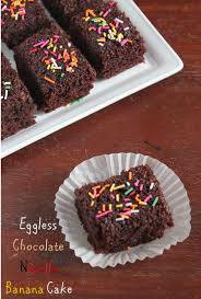 jaya u0027s recipes eggless chocolate nutella banana cake