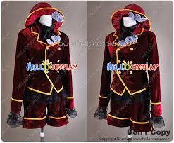 Butler Halloween Costume Black Butler Cosplay Ciel Phantomhive Dark Red Costume