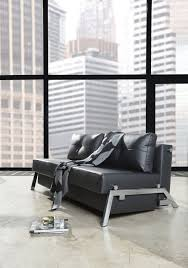 Leather Queen Sofa Bed by Cubed Deluxe Sofa Bed Queen Size Black Leather Textile By Innovation