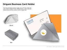 Promotional Business Card Holders Origami Business Card Holder Bpma Student Design Award Entry
