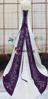 purple wedding dresses emily purple and white wedding dresses weddingfactoryoutlet co