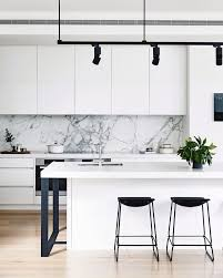 kitchen marble backsplash 14 white marble kitchen backsplash ideas you ll