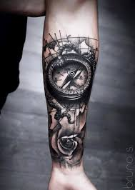 tattoo compass realistic bruno santos tattoos apartial