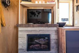 Tiny House Fireplace This Tiny Farm House On Wheels Starts At 63k Fully Equipped