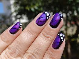 purple butterfly nail design butterfly nails pinterest
