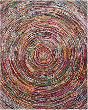 geometric modern 100 cotton area rugs ebay
