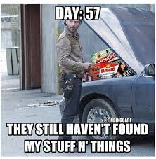Walking Dead Stuff And Things Meme - rick grimes stuff and things meme