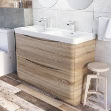 Bathroom Vanity Units With Basin by Erin Floor Standing 1200 Vanity Unit U0026 Basin Light Oak Easy