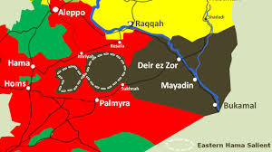 Palmyra Syria Map by Syria Summary U2013 Towards The End Of The Caliphate Global Research