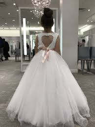 wedding dress lk21 new arirval 2016 gown flower girl dress with heart cutout