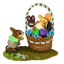 easter basket boy his easter goodie basket wee forest folk