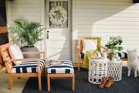 Crate And Barrel Outdoor Rug Back Porch Decorating Crate Barrel Our Vintage Farmhouse