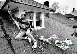 removing christmas lights 1989 kentucky photo archive