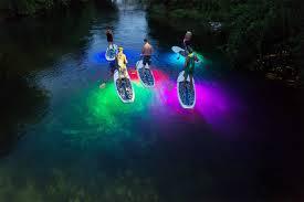 kayak lights for night paddling sup night glow tour by paddle smtx youtube