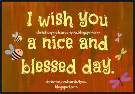 a and blessed day christian cards for you