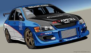 mitsubishi evo custom custom lancer vector by dangeruss on deviantart