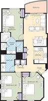 2 Bedroom Suites In Daytona Beach by Ocean Walk Resort Floorplans