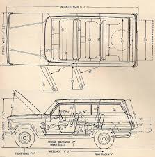 jeep drawing jeep wagoneer 1964 blueprint download free blueprint for 3d modeling