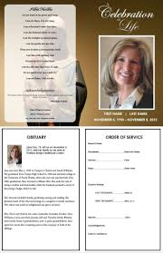 memorial bulletin template funeral program template printable