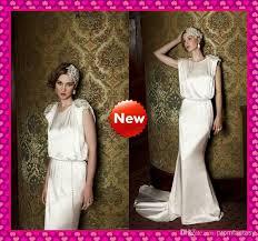 blouson wedding dress vintage sheath wedding dresses neckline beaded blouson