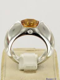 piaget ring white gold ring with diamond and citrine piaget juwelier