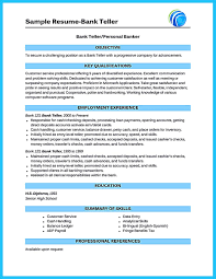 Teller Sample Resume Bank Resume Objective Resume Cv Cover Letter
