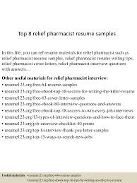 latest resume sample pharmacist resume sample sample resume and free resume templates pharmacist resume sample pharmacist cv sample top8reliefpharmacistresumesamples 150723090142 lva1 app6892 thumbnail 4jpgcb1437642151