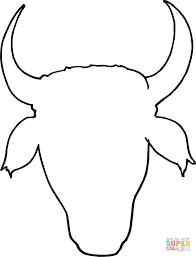 cow head outline coloring page free printable coloring pages
