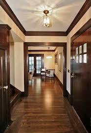 ideas to update the look of dark wood window and door trim with