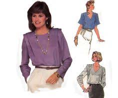 1980s high neck lace trimmed steampunk blouse pattern simplicity