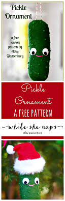 free sewing pattern pickle ornament whileshenaps