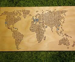 World Map Stencil by Wooden World Map 9 Steps With Pictures
