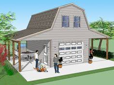 plan 35489gh rv garage with apartment above rv garage rv and