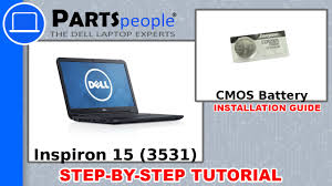 dell inspiron 15 3531 cmos battery how to video tutorial youtube
