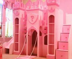 Princess Castle Bunk Bed Pink The Princess Castle Bunk Bed With Bookshelves And Stairs With