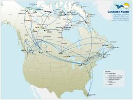 Northern Canada Map by First Air World Airline News