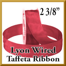 taffeta ribbon 464 lyon wired taffeta ribbon 2 3 8 inch 27 100 yard rolls