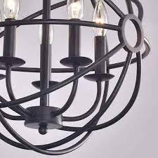 Antique Black Chandelier 5 Light Antique Black Chandelier Round Metal Globe Orb Industrial