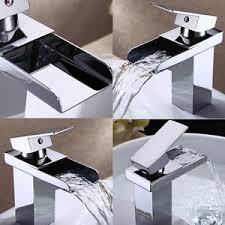 chrome waterfall faucet bathroom basin tub sink mixer tap