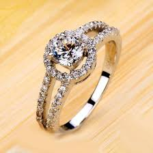 silver and gold engagement rings personalized gold rings wedding promise