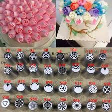 home decorating tools 1pc russian nozzles stainless steel icing piping nozzles cakes