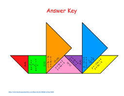 tangram puzzle of equations set 1 w substitution tangram puzzles 3 levels ccss 8