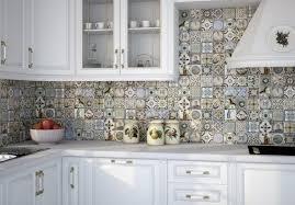 cuisine carreau ciment design interieur crédence cuisine carreaux ciment multicolores