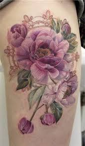 best 25 purple flower tattoos ideas on pinterest rose tattoo