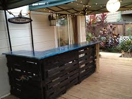 Patio Furniture Made Out Of Pallets by Building A Tiki Bar U2026out Of Wood Pallets Follow The High Line Home
