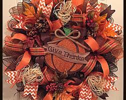 Thanksgiving Deco Mesh Wreaths Moss Brown And Burlap Everyday Deco Mesh Wreath Fall
