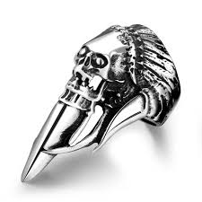 stainless steel rings for men stainless steel jewelry men skull stainless steel party