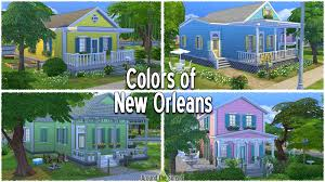 new orleans colorful houses around the sims 4 custom content download building set