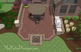 Backyard Pit Backyard Brick Patio Design With Fire Pit Download Plan