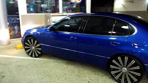 lexus gs300 blue lexus on 22 u0027s beating youtube